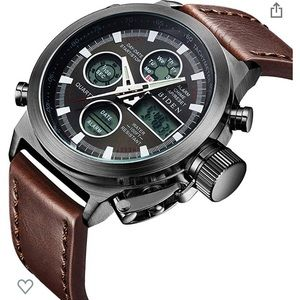 Biden leather men's watch